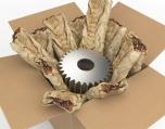 Beschermen en opvullen - voorbeeld met papieren opvulmateriaal