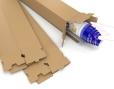 Vierkante kartonnen verzendkokers